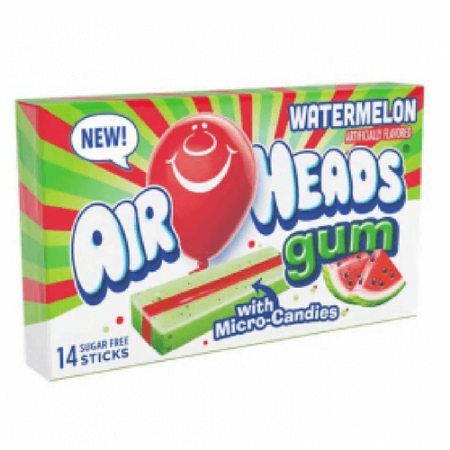 Airheads Watermelon Gum with micro candies (US)